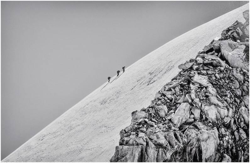 1er prix Thème N&B / Alpiniste / Raphaël Martinez