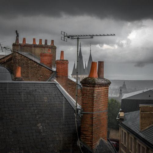 """Hervé Hellec """"La pluie sur les toits"""""""